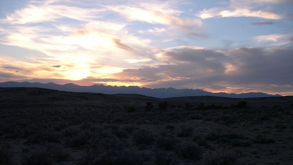 Sunset over the West Humboldts, Clover Valley, Elko County, Nevada