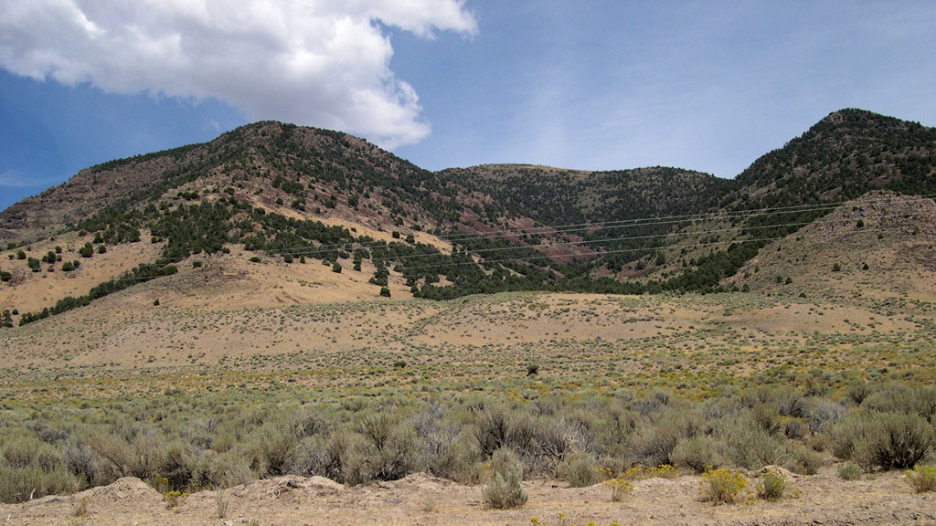 Multiple event fault scarp, Pequop Range, Elko county, Nevada