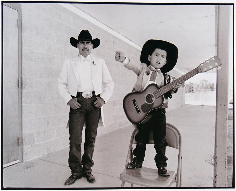 Photographer Kenji Kawano captures Tom Fannie (Naakaii Dine' é Clan) and Cody Dayish, father and son, Shiprock New Mexico