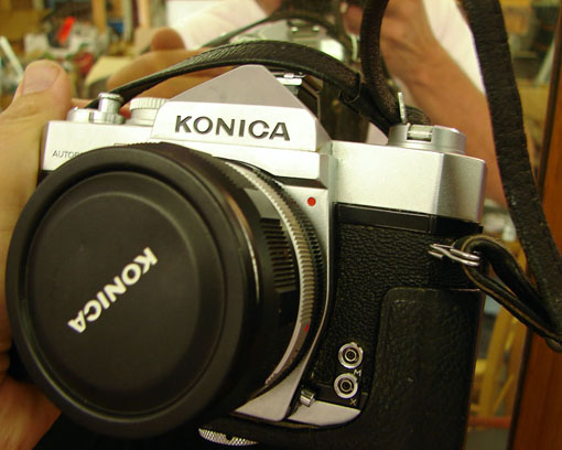 Konica autoreflex, very good condition, Andrew D. Barron ©8/22/10