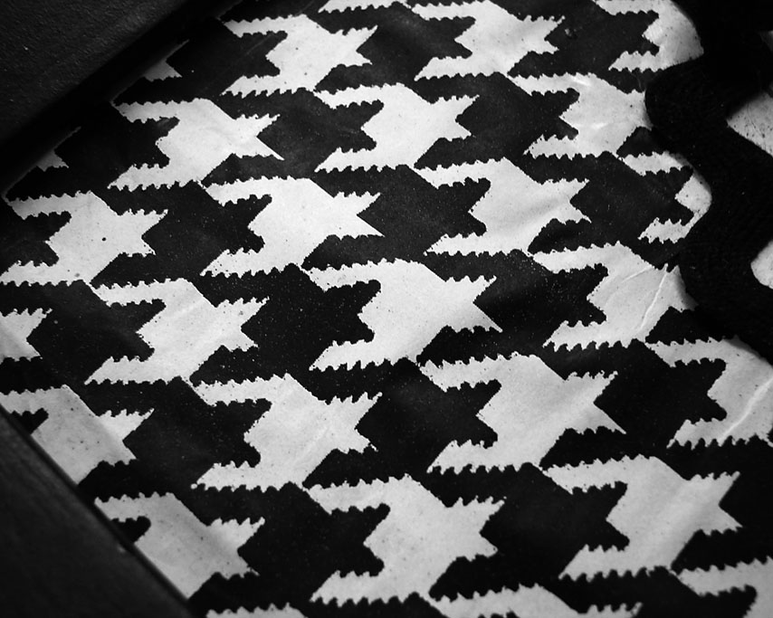 Houndstooth in a cheap old picture frame, Andrew D. Barron ©1/15/11