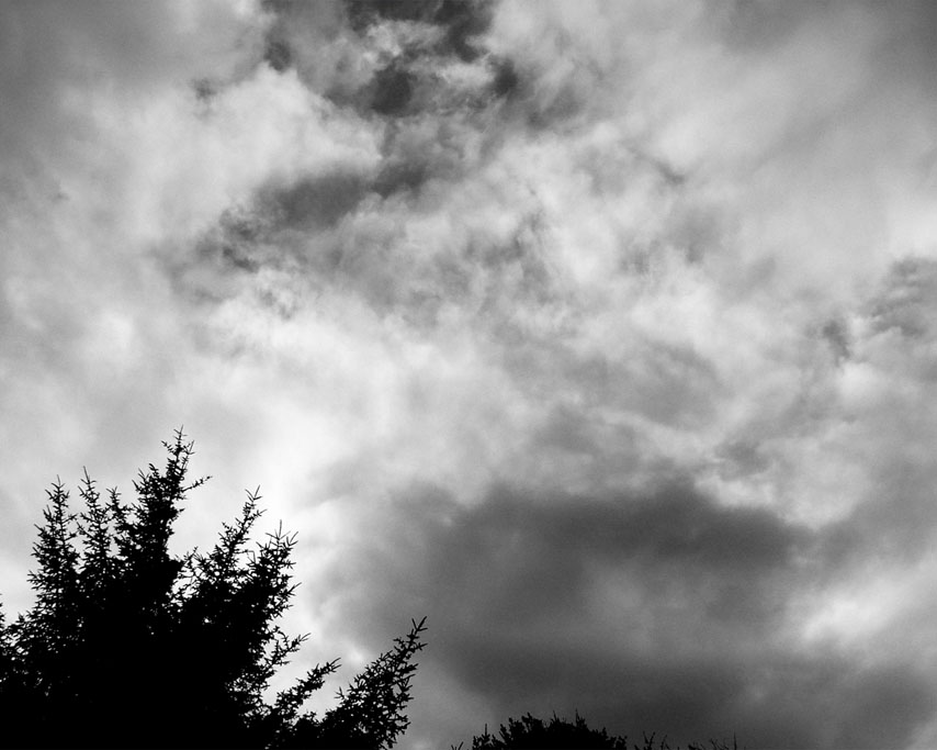 The sky outside as I write this blog, Andrew D. Barron ©1/28/11