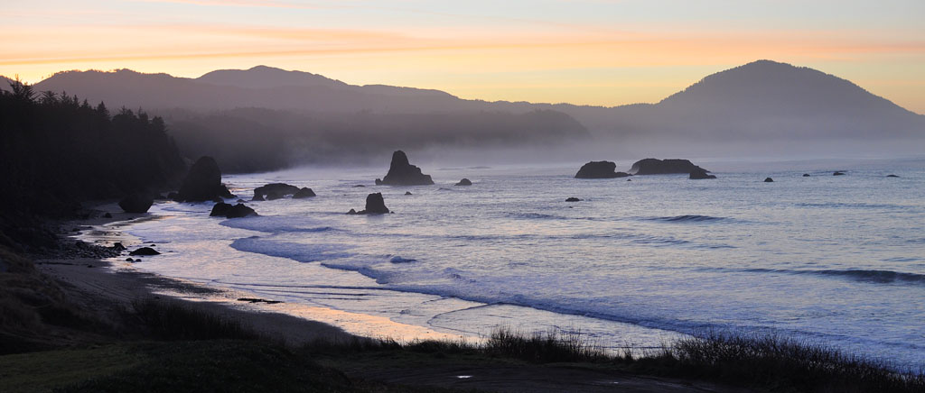 From battle Rock, Port Orford, Curry County, OR, Andrew D. Barron ©1/04/11