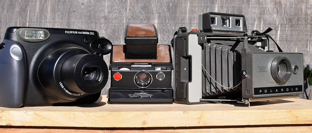 2010: Instax 210, 1977: Polaroid SX-70 Alpha 1Model 2, 1969: Polaroid Land Camera 320., Andrew D. Barron ©1/20/11