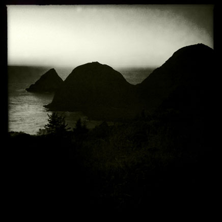Sisters Rocks sunset, Curry County, OR, Andrew D. Barron ©1/20/11