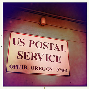 Ophir post office is in danger of closing, Andrew D. Barron ©1/25/11