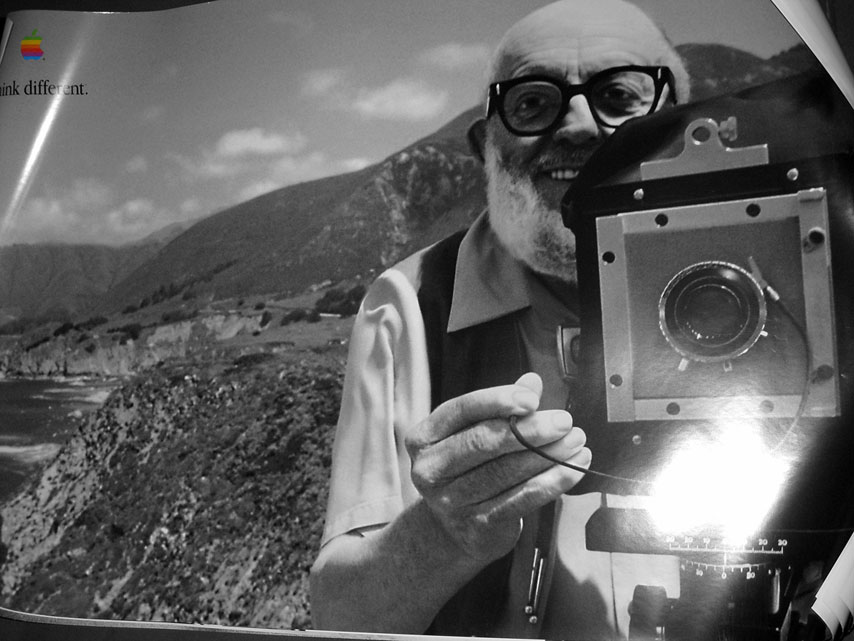 Ansel Adams, Think Different (image provided)