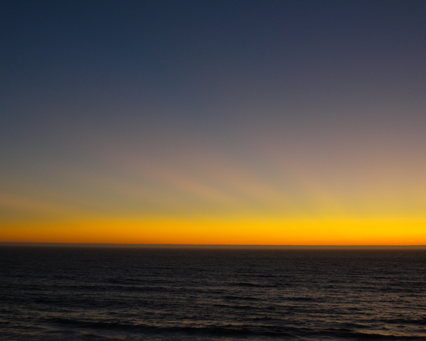 Sunset over the pacific with crepuscular rays, Andrew D. Barron©8/23/11