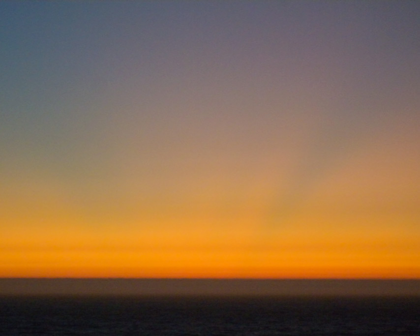 Crepuscular rays after sunset, Andrew D. Barron©8/26/11