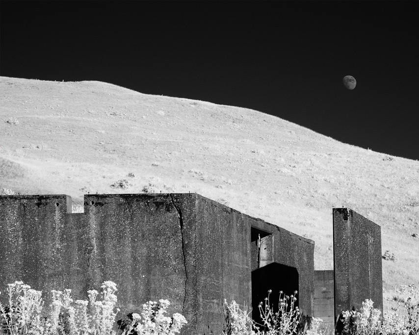 Moonrise over wartime lookout, Andrew D. Barron©8/9/11