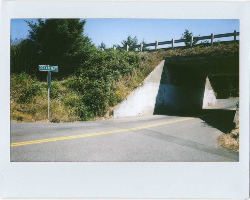 Instax 210 at Ocean Way underpass, Andrew D. Barron©8/26/11