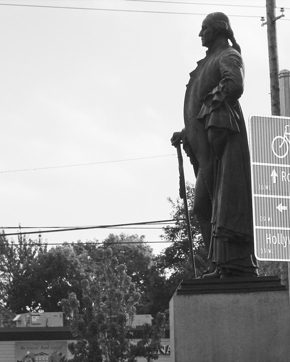George Washington statue, Portland, OR, Andrew D. Barron©10/30/11