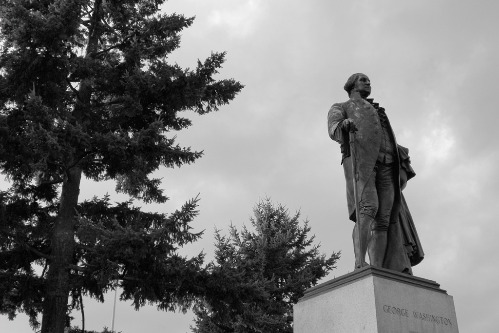 George Washington statue, Portland, OR, Andrew D. Barron©10/30/11