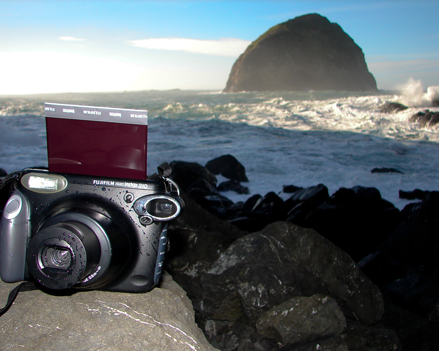 Instax 210 shoot at south bay at Sisters Rocks, Ophir, OR, Andrew D. Barron©12/24/11