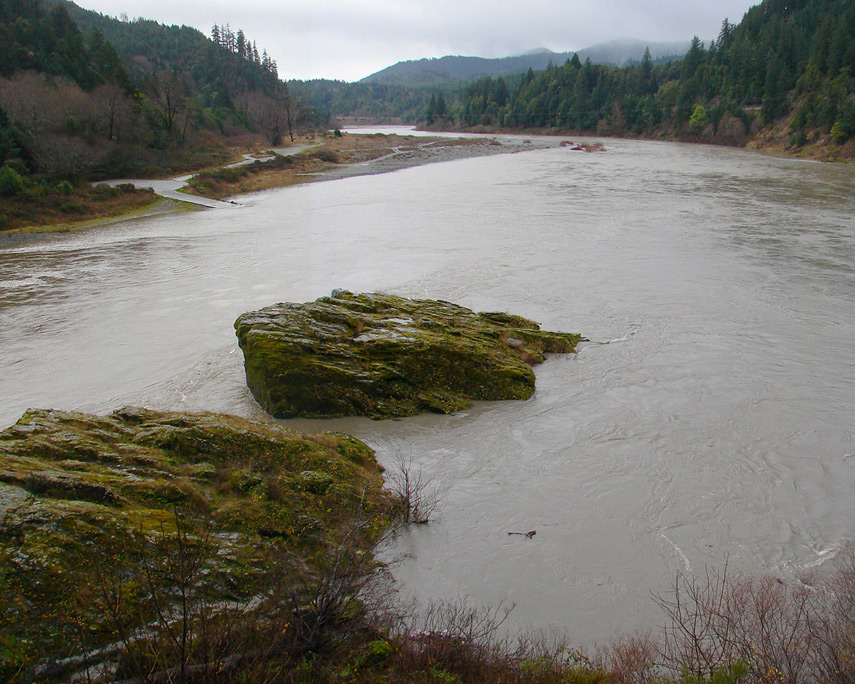 Rogue River from Lobster Creek bridge, Andrew D. Barron©12/30/11