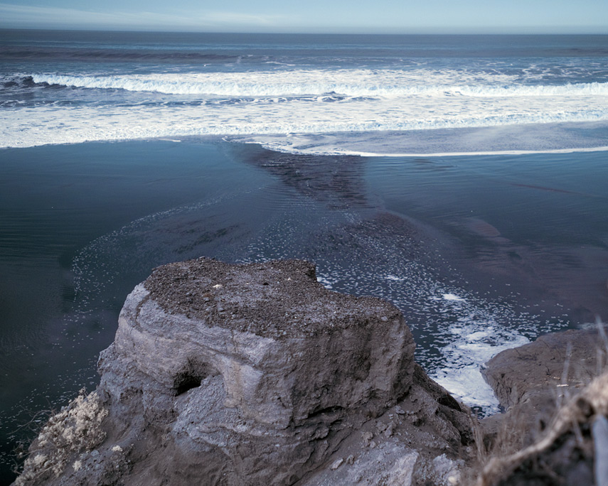Mouth of Greggs Creek at high tide, Ophir, OR, Andrew D. Barron©12/23/11