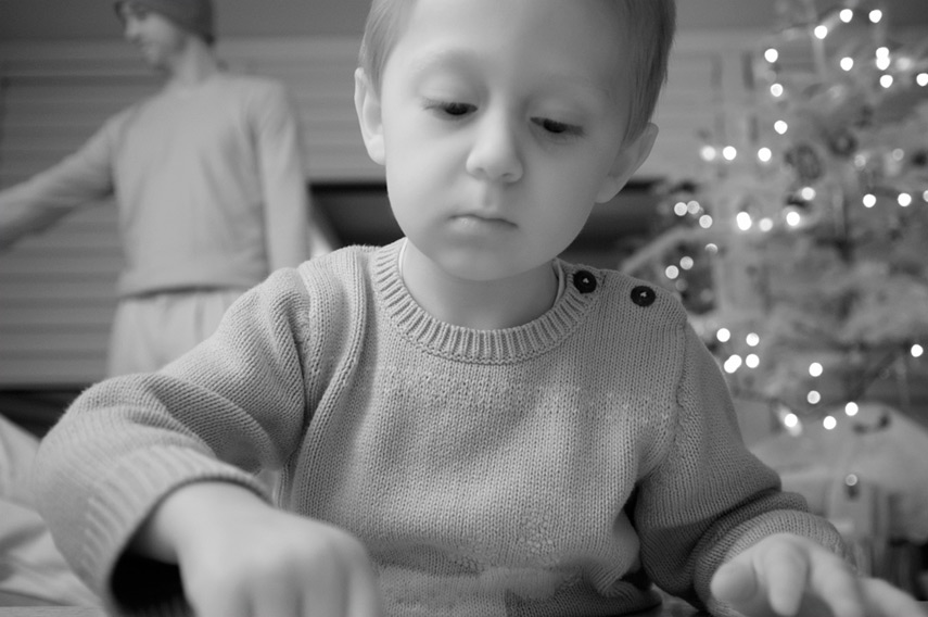 Kid at Christmas, Andrew D. Barron©12/24/11