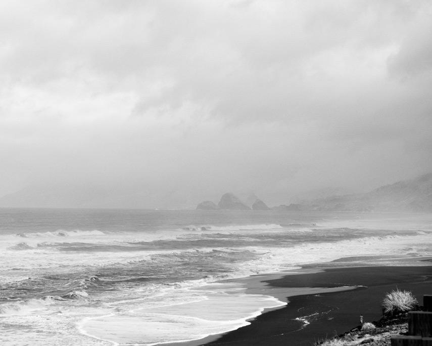 Jogger, Ophir Beach, Andrew D. Barron©12/30/11