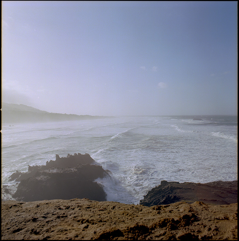 South: the edge at Otter Point, Andrew D. Barron©12/31/11 [Hasselblad 500c/m, 80mm ƒ2.8, Ektar 100]