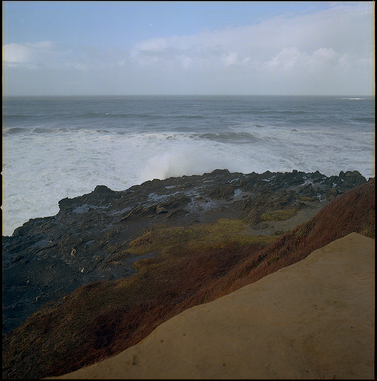 West: the edge at Otter Point, Andrew D. Barron©12/31/11 [Hasselblad 500c/m, 80mm ƒ2.8, Ektar 100]