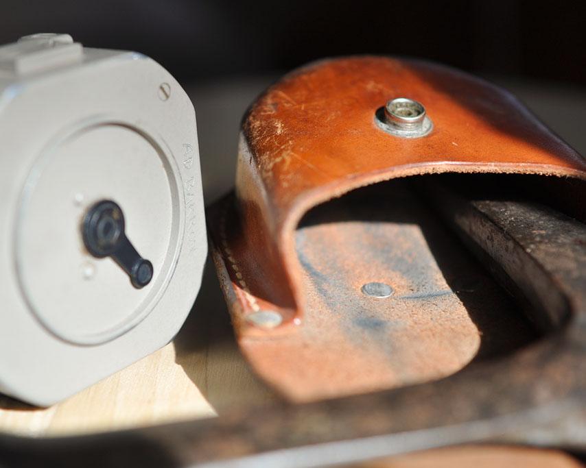 Brunton compass, Andrew D. Barron ©2/2/11