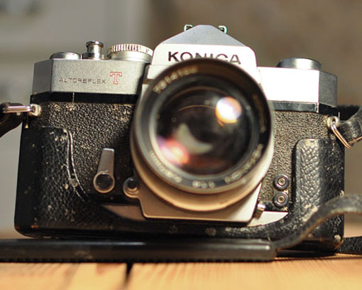 Konica autoreflex, very bad condition, Andrew D. Barron ©2/3/11