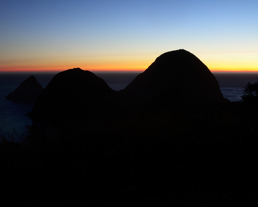 Sun has set Sisters Rocks, Curry County, OR, Andrew D. Barron©7/31/11