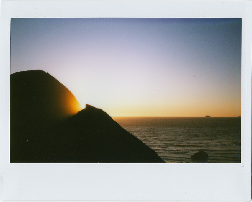 Sunset at Sisters Rocks, Instax 210, Curry County, OR, Andrew D. Barron©7/31/11