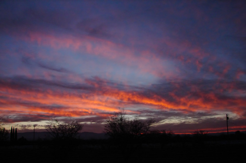 Sunset south of Stockton, Andrew D. Barron©1/5/12