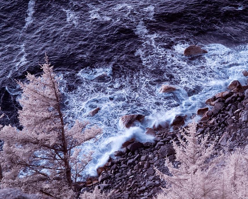 Waves crash at Cape Sebastian, Andrew D. Barron©1/1/12