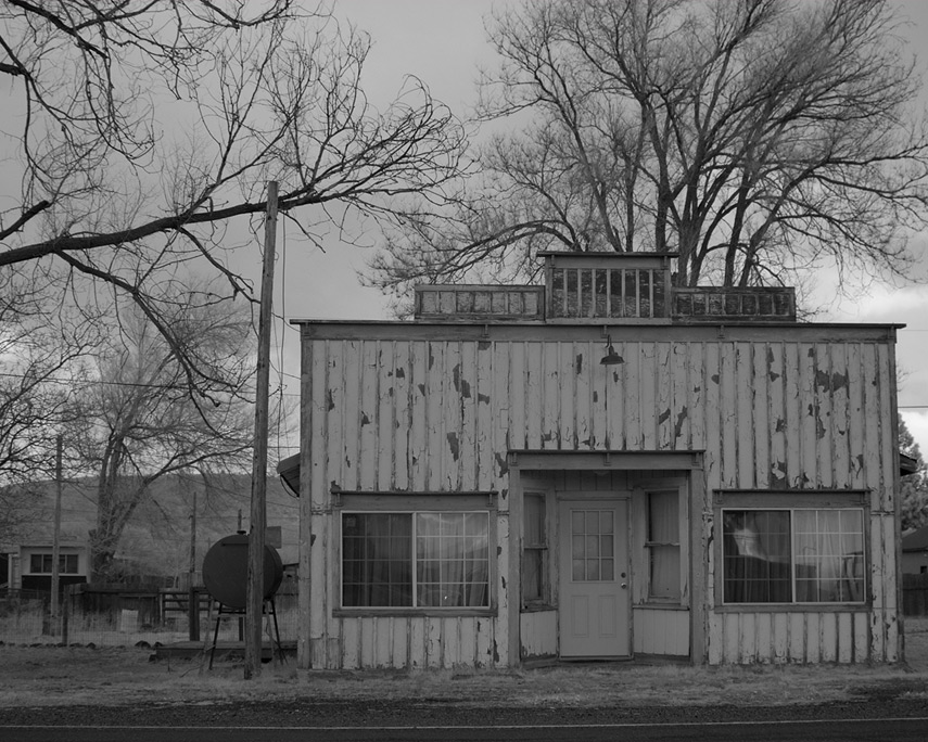 Old garage en route to Klamath Falls, Andrew D. Barron©1/15/12