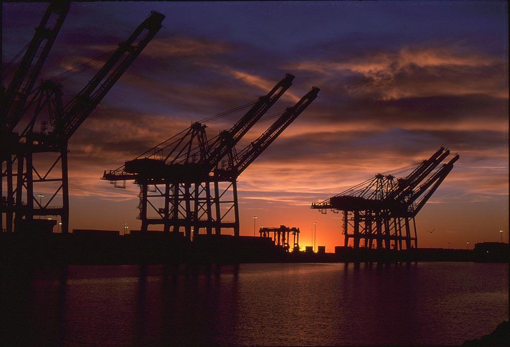 Long Beach sunset, Andrew D. Barron©1/9/12