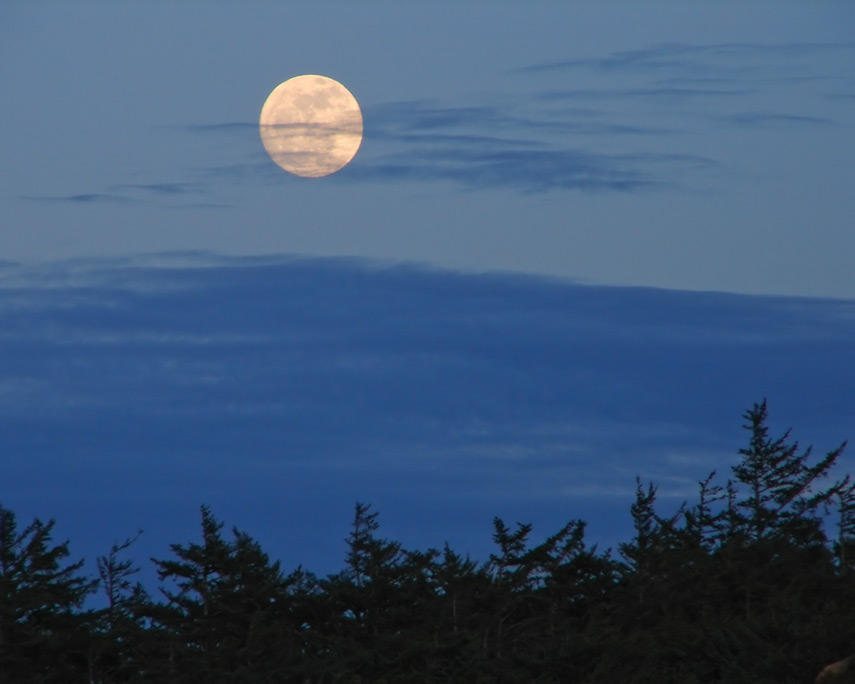 Moonrise north of Blacklock point, Port Orford, Andrew D. Barron©2/6/12