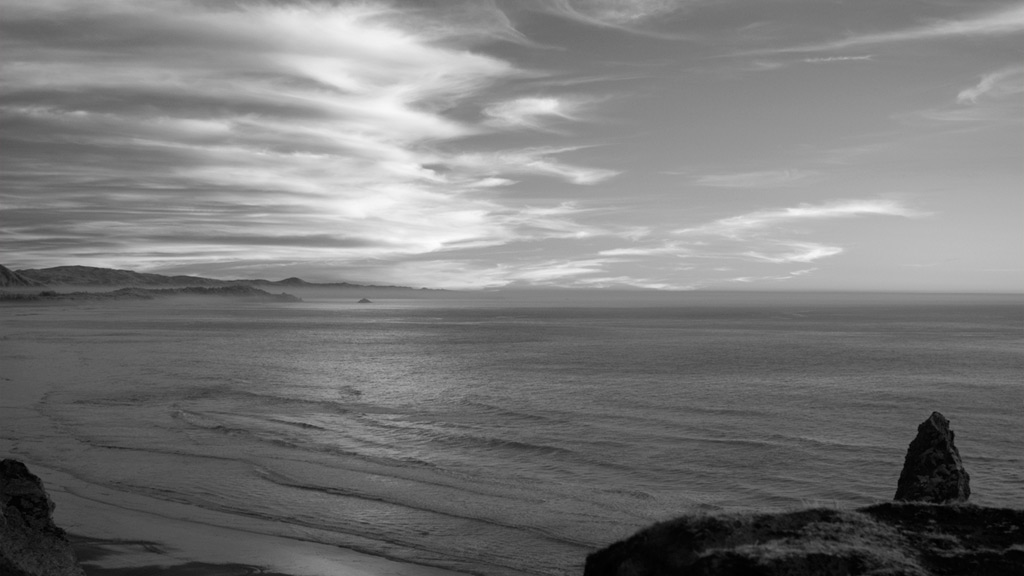 Sun sets over Cape Blanco, Port Orford, Andrew D. Barron©2/2/12