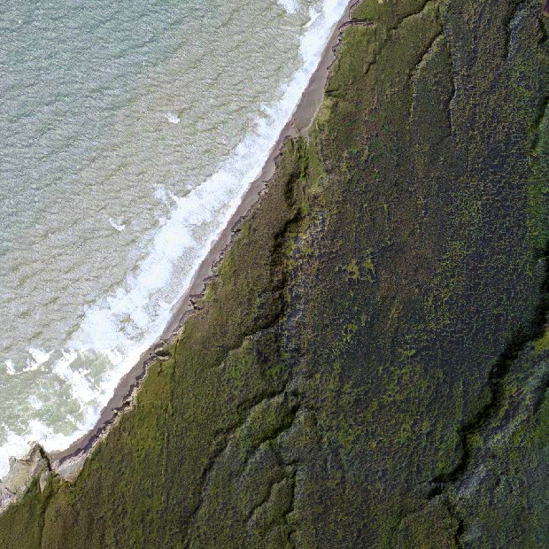 Blacklock Beach aerial view, Andrew D. Barron©2/3/12