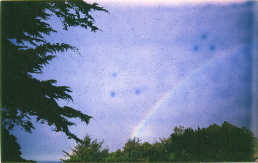Rainbow with overheated developing print, instax 210, Andrew D. Barron©2/13/12