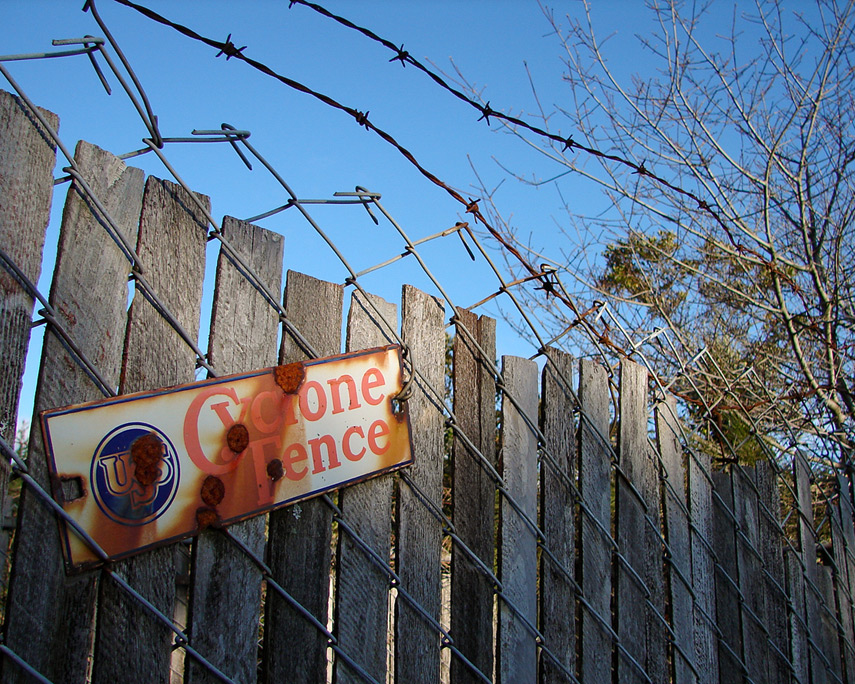Cyclone fence, Andrew D. Barron©3/25/12