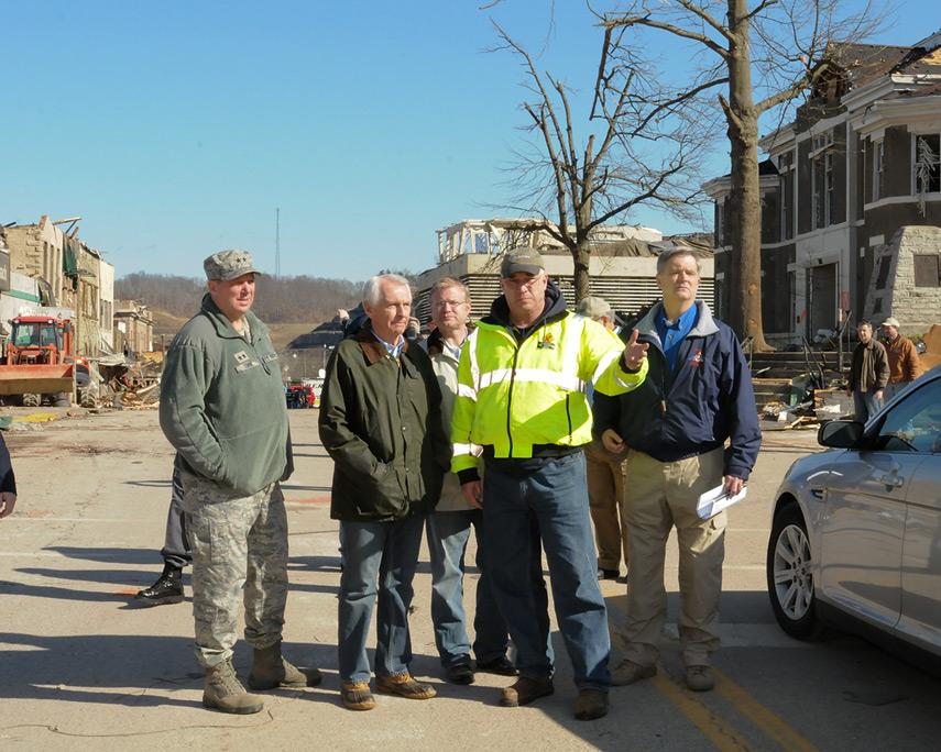 West Liberty downtown, Kentucky, 41472, KY Nat'l Guard PAO ©3/2/12