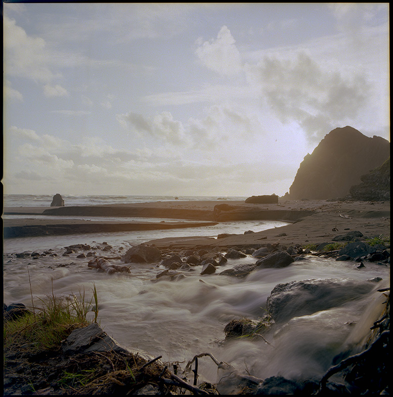 Woodroof Creek meets the sea, Andrew D. Barron©4/26/12 [Hasselblad 500c/m, 50mm ƒ4, Ektar 100]