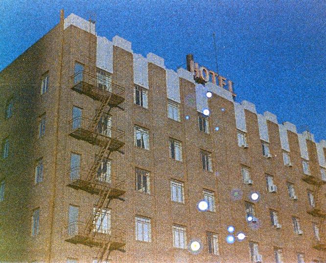 El Cortez hotel, Reno, NV, Andrew D. Barron©June 2012 [found film; Kodak Ektra 2]