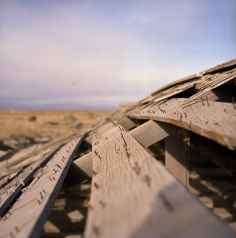 Sulphur Nevada rooftop, Andrew D. Barron©12/21/12 [Hasselblad 500c/m, Zeiss 80mm ƒ2.8, Portra 400]