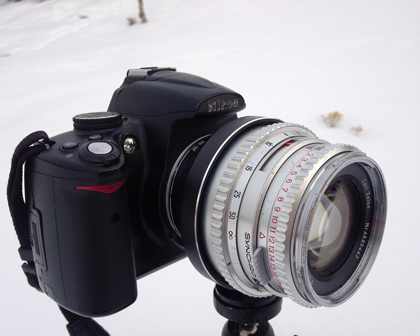 Hassy lens on Nikon DX camera, Andrew D. Barron©1/5/13 [645 PRO for 4S]