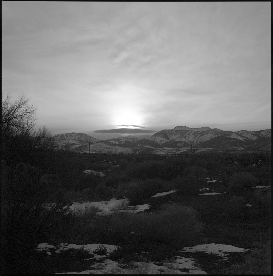 South Reno sunset, Andrew D. Barron©1/23/13 [Hasselblad 500c/m; Planar 80mƒ2.8, Fuji Reala 100 frame 9]