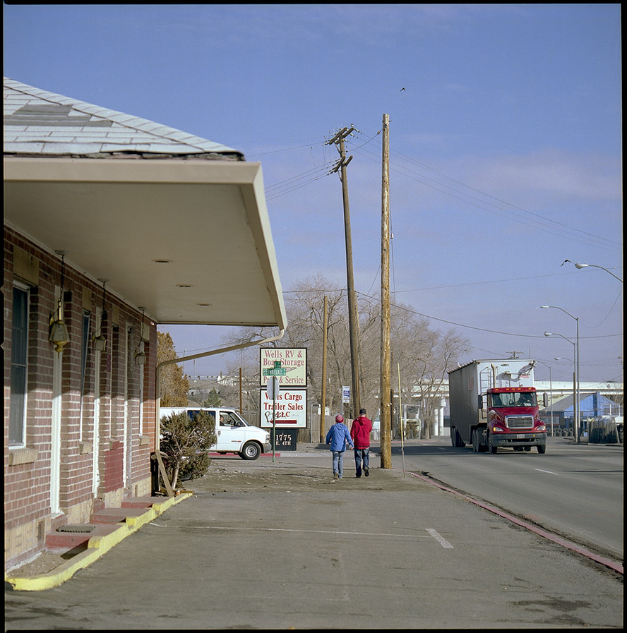 Sandman Motel, 4th street Reno, NV, Andrew D. Barron©1/25/13 [Hasselblad 500c/m; Planar 120mm ƒ5.6, Fuji Reala 100 frame 1]