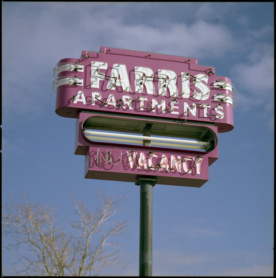 Farris Apartments, 4th street Reno, NV, Andrew D. Barron©1/25/13 [Hasselblad 500c/m; Planar 120mm ƒ5.6, Fuji Reala 100 frame 2]