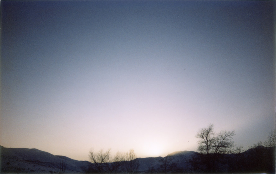 Last rays over Mount Rose, Andrew D. Barron©1/16/2013 [Silver Edition Fujifilm Instax 210: Instax Wide]