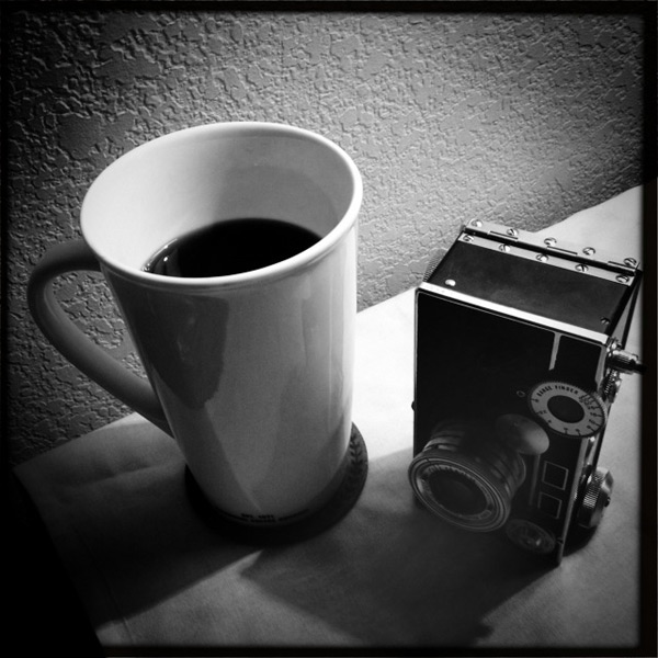 Coffee and camera, Andrew D. Barron©2/1/13 [iphone 4s, Hipstamatic 261]
