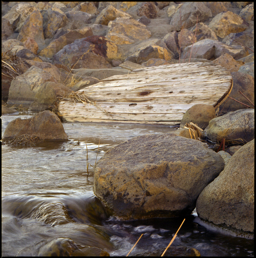Engineered channel, Andrew D. Barron©2/3/13 [Hasselblad 500c/m; Planar 120mmƒ5.6, Fuji Reala 100 frame 7]
