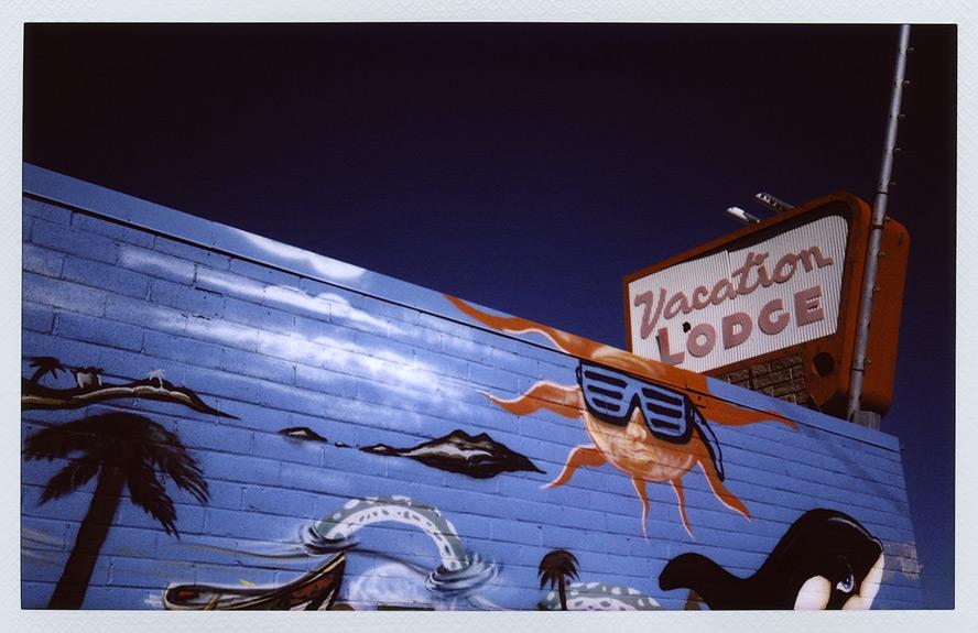 Vacation Lodge, Reno, NV, Andrew D. Barron©2/14/13 [Fujifilm Instax 210]