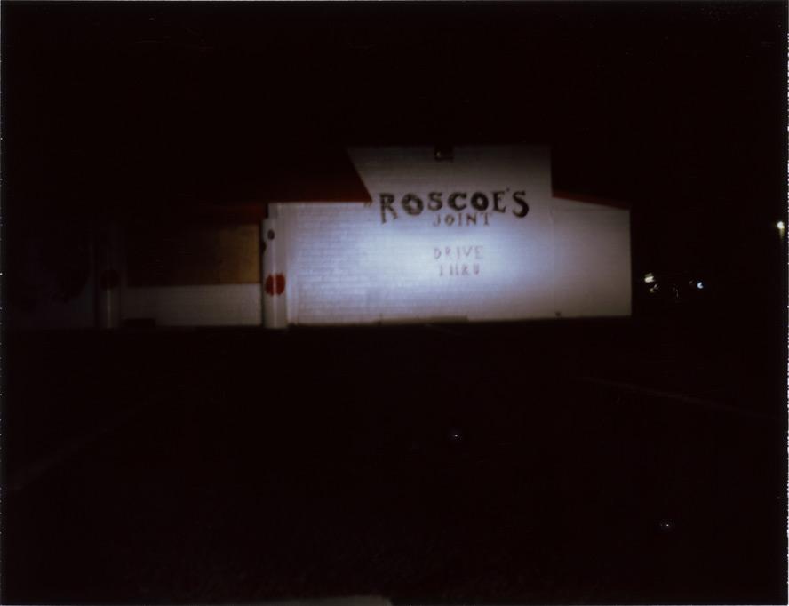 Roscoe's BBQ, Andrew D. Barron©2/2/13 [Polaroid 450: FP100C]